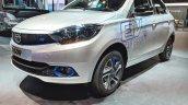 Tata Tigor EV front three quarters at Auto Expo 2018