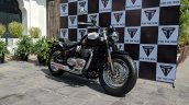 Triumph Bonneville Speedmaster India launch front right quarter