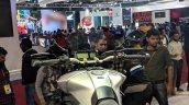 Yamaha MT-09 Tracer cockpit at 2018 Auto Expo