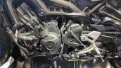 Yamaha MT-09 Tracer engine at 2018 Auto Expo