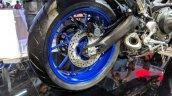 Yamaha MT-09 Tracer rear wheel at 2018 Auto Expo