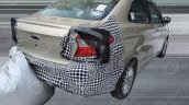 2018 Ford Aspire (facelift) rear three quarters spy shot