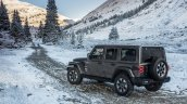2018 Jeep Wrangler Unlimited Sahara rear three quarters
