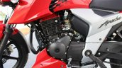 2018 TVS Apache RTR 160 4V First ride review Carb engine left side