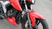 2018 TVS Apache RTR 160 4V First ride review front suspension
