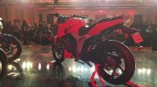 2018 TVS Apache RTR 160 4V India launch Red rear left quarter