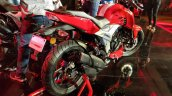 2018 TVS Apache RTR 160 4V India launch Red rear right quarter