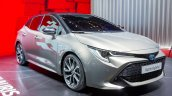 2018 Toyota Auris Hybrid front three quarters at the 2018 Geneva Motor Show