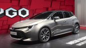 2018 Toyota Auris Hybrid front three quarters left side at the 2018 Geneva Motor Show