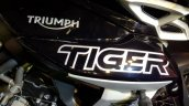 2018 Triumph Tiger 800 XCx India launch tank logo