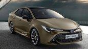 2019 Toyota Corolla Altis (2019 Toyota Corolla Sedan) brown rendering