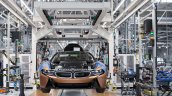BMW i8 Roadster front production line