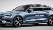 Next-gen 2018 Volvo S60 front three quarters rendering