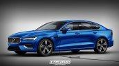 Next-gen 2018 Volvo S60 plug-in hybrid rendering