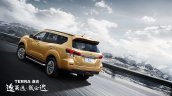 Nissan Terra rear three quarters dynamic