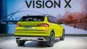 Skoda Vision X concept rear three quarters at 2018 Geneva Motor Show