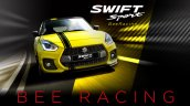 Suzuki Swift Sport Beeracing front dynamic
