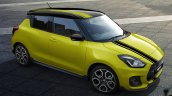 Suzuki Swift Sport Beeracing front three quarters elevated view