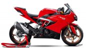 TVS Apache RR 310 rendered Red