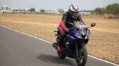 Yamaha YZF-R15 v3.0 track ride review front right quarter action