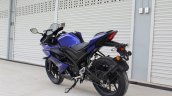 Yamaha YZF-R15 v3.0 track ride review rear left quarter