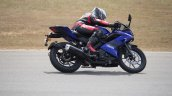 Yamaha YZF-R15 v3.0 track ride review right side action