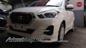 2018 Datsun Go (facelift) front three quarters spy shot