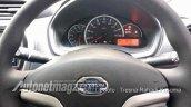 2018 Datsun Go (facelift) instrument panel spy shot