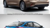 2018 Ford Focus Sedan vs 2014 Ford Focus Sedan rear three quarters