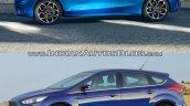 2018 Ford Focus vs 2014 Ford Focus left side