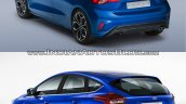 2018 Ford Focus vs 2014 Ford Focus rear three quarters studio image