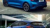 2018 Ford Focus vs 2014 Ford Focus rear three quarters