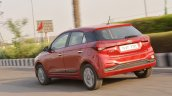 2018 Hyundai i20 facelift review rear three quarters action shot