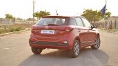2018 Hyundai i20 facelift review rear three quarters