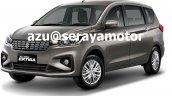 2018 Suzuki Ertiga (2018 Maruti Ertiga) front three quarters leaked image