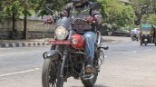 Bajaj Avenger 180 Street test ride review front action closeup