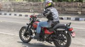 Bajaj Avenger 180 Street test ride review rear left quarter action