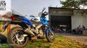 Bajaj Dominar 400 with Blue Domivel kit rear angle