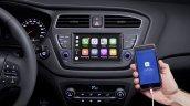 Euro-spec 2018 Hyundai i20 (facelift) infotainment system
