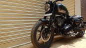 Royal Enfield Thunderbird 350 Graphite by Bulleteer Customs front left quarter