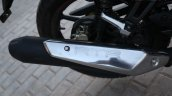 TVS Apache RTR 160 Race Edition White in Images exhaust
