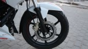 TVS Apache RTR 160 Race Edition White in Images front brake