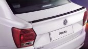 VW Ameo Pace glossy black boot lip spoiler