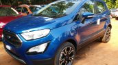 2018 Ford EcoSport Signature front three quarters unofficial image