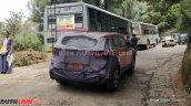 2018 Hyundai Creta (facelift) rear three quarters spy shot Ooty