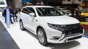 2019 Mitsubishi Outlander PHEV (facelift) front three quarters right side at GIMS 2018