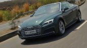 Audi A5 Cabriolet review front action shot tilt