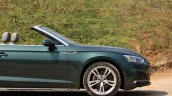 Audi A5 Cabriolet review front section side view