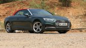 Audi A5 Cabriolet review front three quarters top up