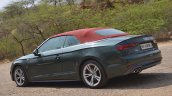 Audi A5 Cabriolet review side angle top up
